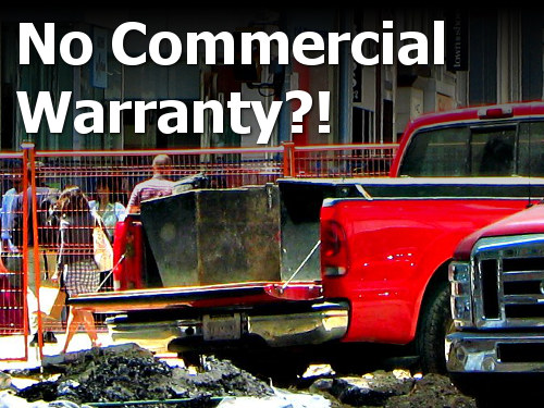 Commercial use warranty coverage spray-in bed liners