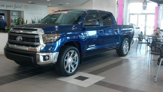 14 tundra lowered blue