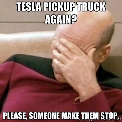 Tesla truck rumor nonsense