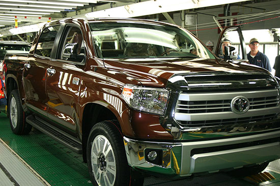A big surprise for Toyota is the sales rate of their 1794 pickup. We expect it continue to sell well in 2015.
