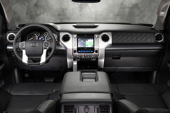 Here is a 2014 Toyota Tundra Platinum interior.