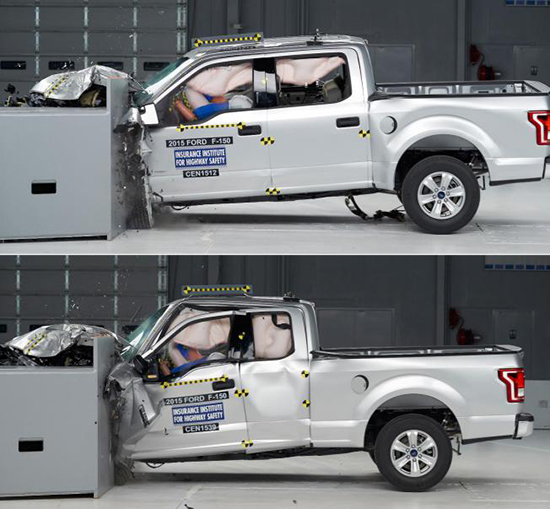 IIHS Questions 2015 Ford F-150 Safety Ratings, Insurance and Repair Costs