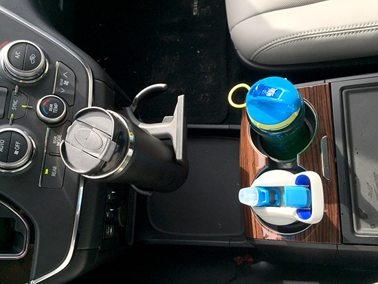 Not a fan of only two cup holders on the center console and then a pop-out option for two more.
