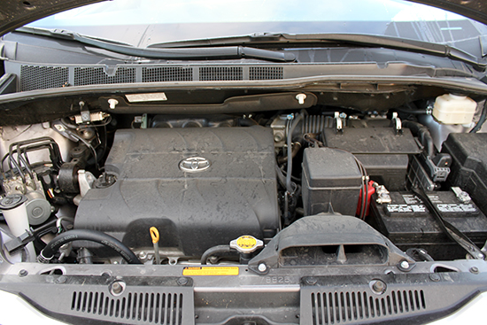 The 3.5L V6 does an ample job powering the Sienna.