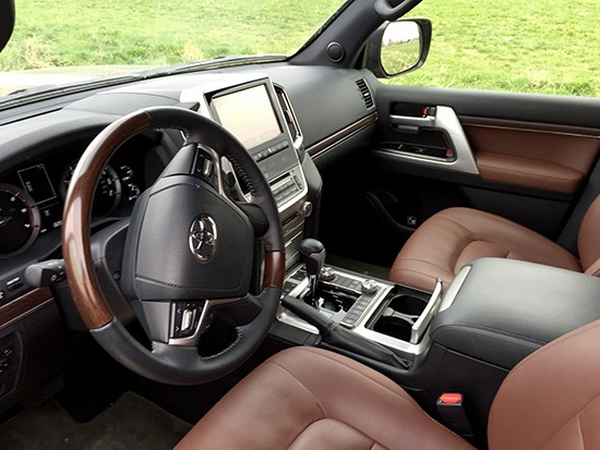 Remove the Toyota badge and this cabin could pass for Lexus SUV.