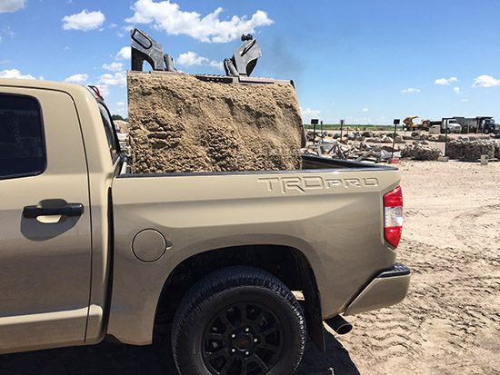 Landscaping with the 2016 Toyota Tundra TRD PRO