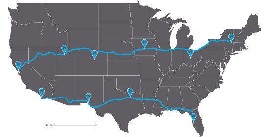 Nikola trucking routes