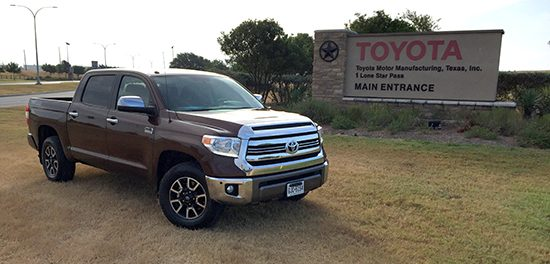THQ Tours Toyota Motor Manufacturing Texas Plant