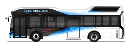 Toyota fuel cell buss