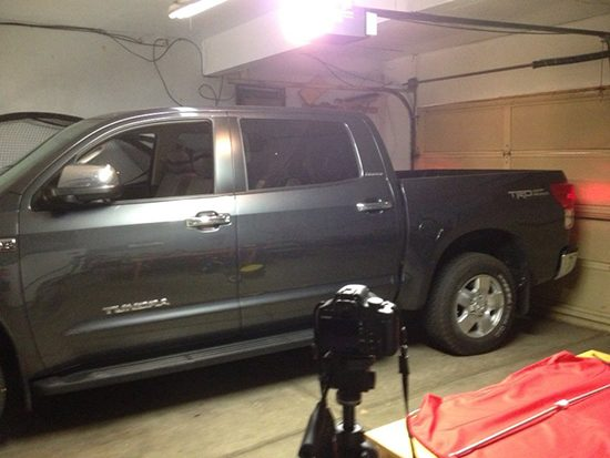 My first press loan, if I recall correctly, was this grey Toyota Tundra. This was the dramatic moment I realized it fit in my garage which lead me to buy one.